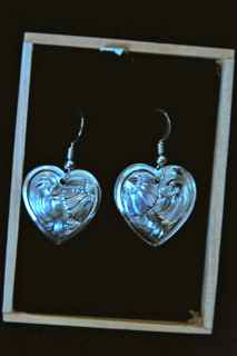 Heart wire earrings
